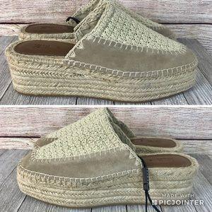 NWOT Zara Crochet Wedges